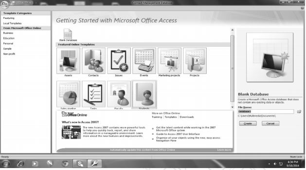Starting of MS Access
